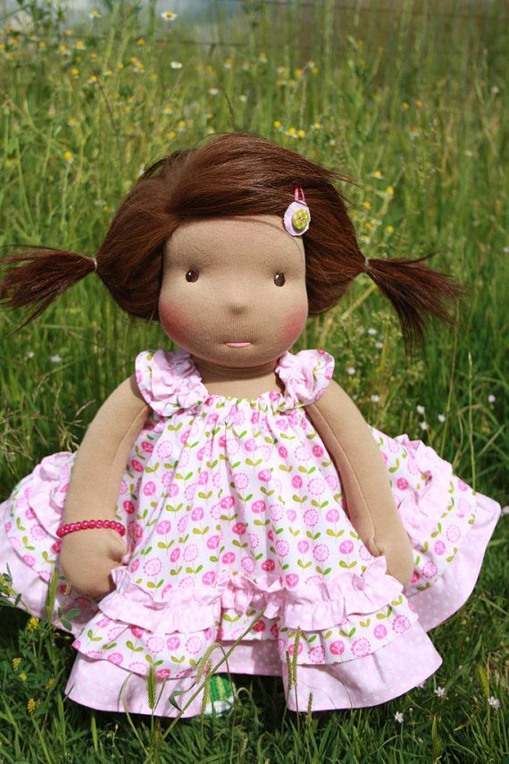 """Cotton dress for  Waldorf doll 15-18"""""""