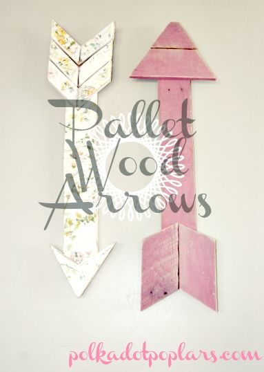 Pallet Wood Arrows, so cute!