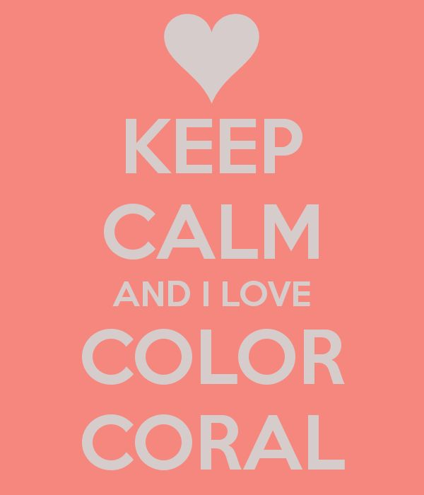 I love color coral