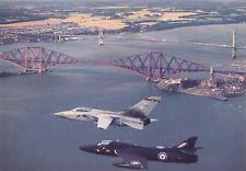Postcard Hunter T7 & Tornado F3 No.111(F) Squadron Over Firth of Forth Bridge