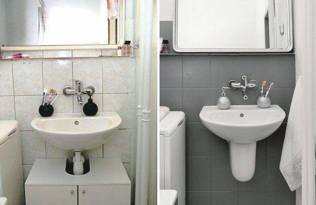 Metamorfoza łazienki przy użyciu farb do płytek
