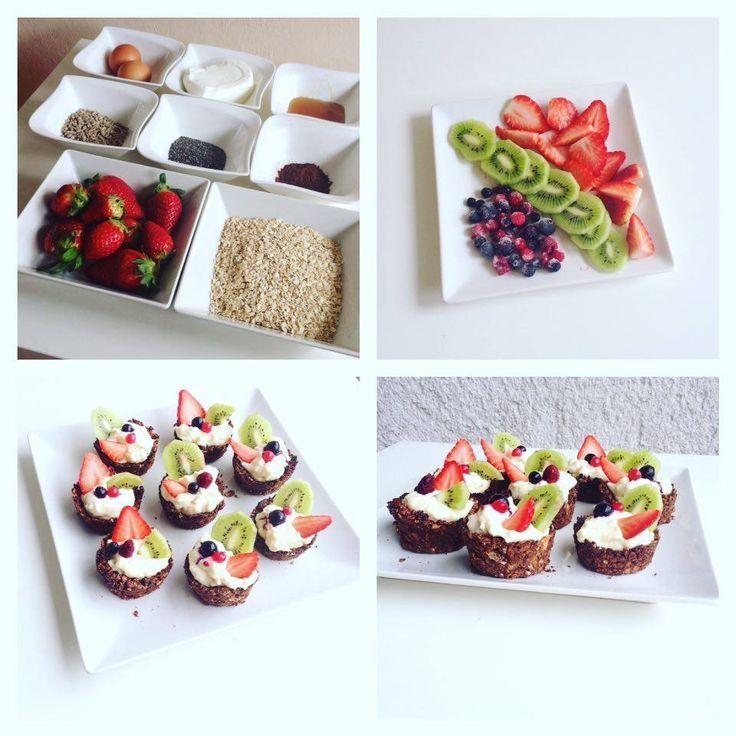 Ovocné košíčky s tvarohem - Fitness Recepty