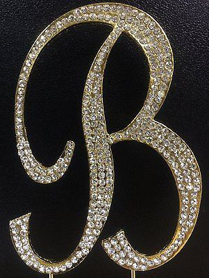 monogram wedding cake toppers michaels gold letter initial b birthday rhinestone cake 17526