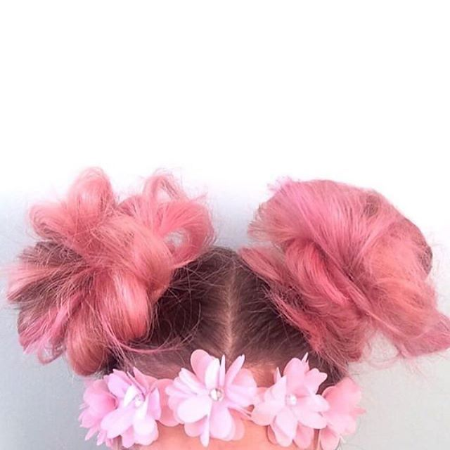 Cotton Candy Buns.  Get this colour with our vegan Manic Panic collection.  @Alliegreator www.AttitudeClothing.co.uk | We Ship Worldwide  #attitudeclothing #manicpanic #hair #haircolour #pink #pinkhair #vegan #veganfashion #instahair #hairdye