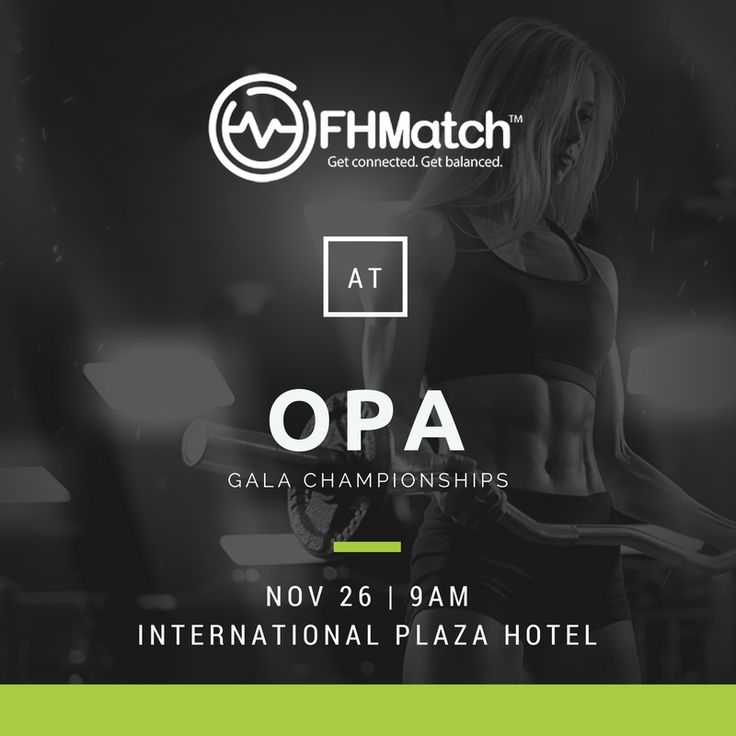 Who's checking out the Ontario Physique Association Gala Championships this weekend? FHMatch will be! Come by our booth to chat and enter our raffle.