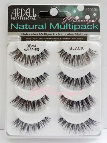 4 Pairs Ardell Demi Wispies Natural False Eyelashes | eBay