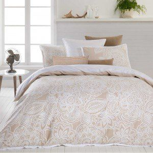 Natural Mecca Quilt Cover Set