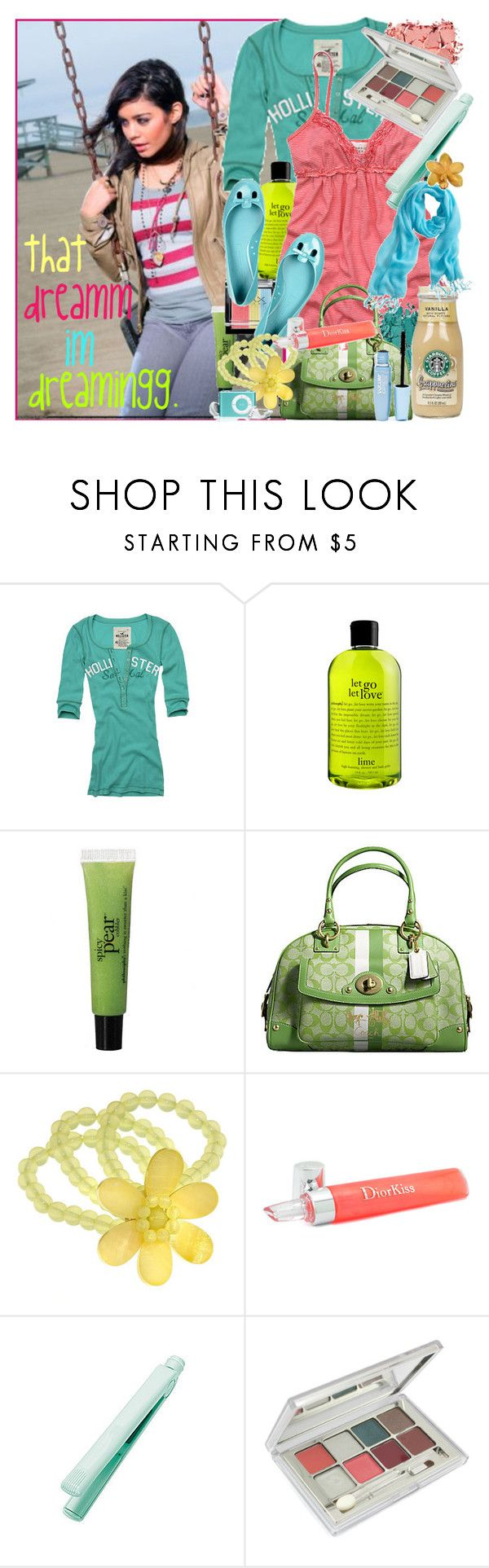 """""""thee climbbb &hearts"""" by d-xlii ❤ liked on Polyvore featuring Hollister Co., philosophy, Abercrombie & Fitch, Coach, Marc Jacobs, Dorothy Perkins, Christian Dior, CHI, Nina Ricci and Maybelline"""