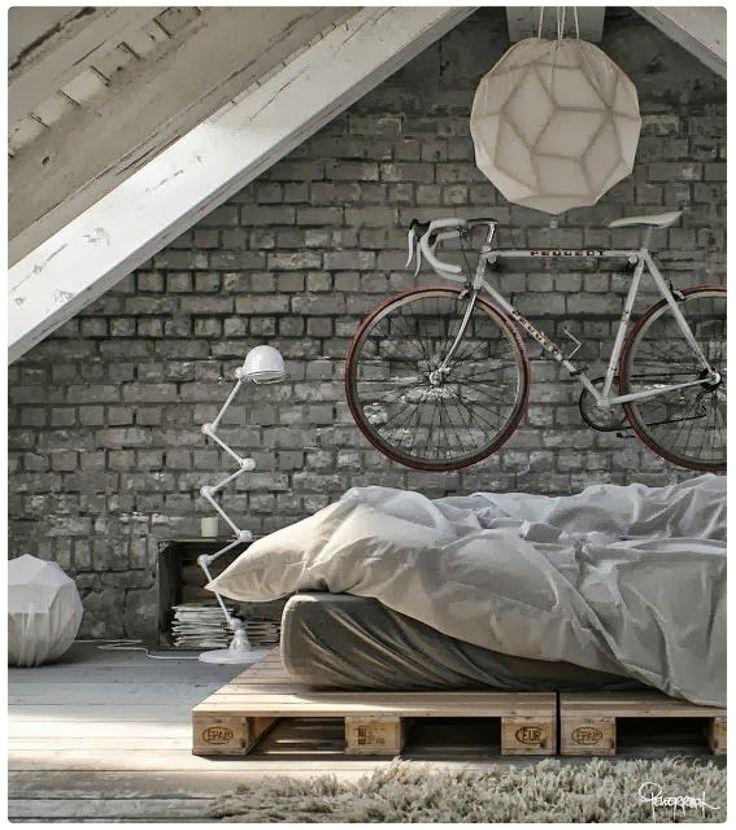 industrial loft style bedroom - Google Search