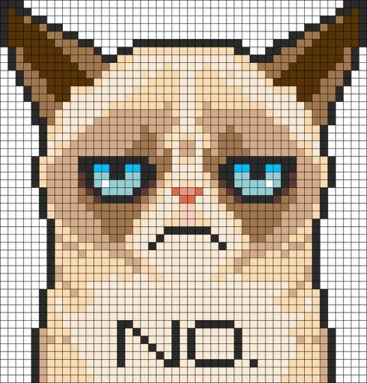 Grumpy Cat – Free Patterns and Tutorial Videos