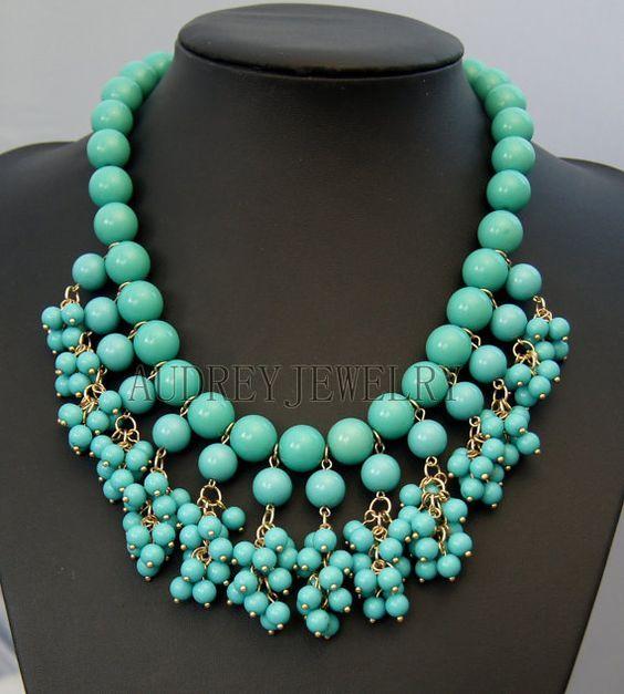 single color statement necklace