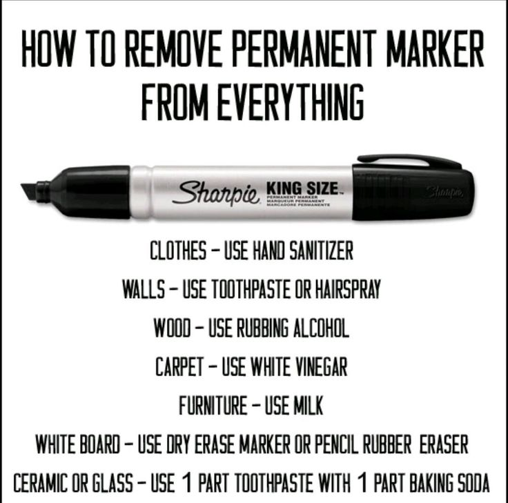 How to get permanent marker out of almost anything. Thank us later.