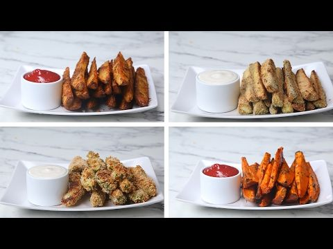 Baked Fruit & Veggie Chips 4 Ways - YouTube