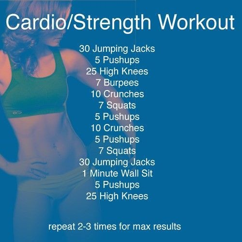 Cardio/Strength Workout - might do this for class