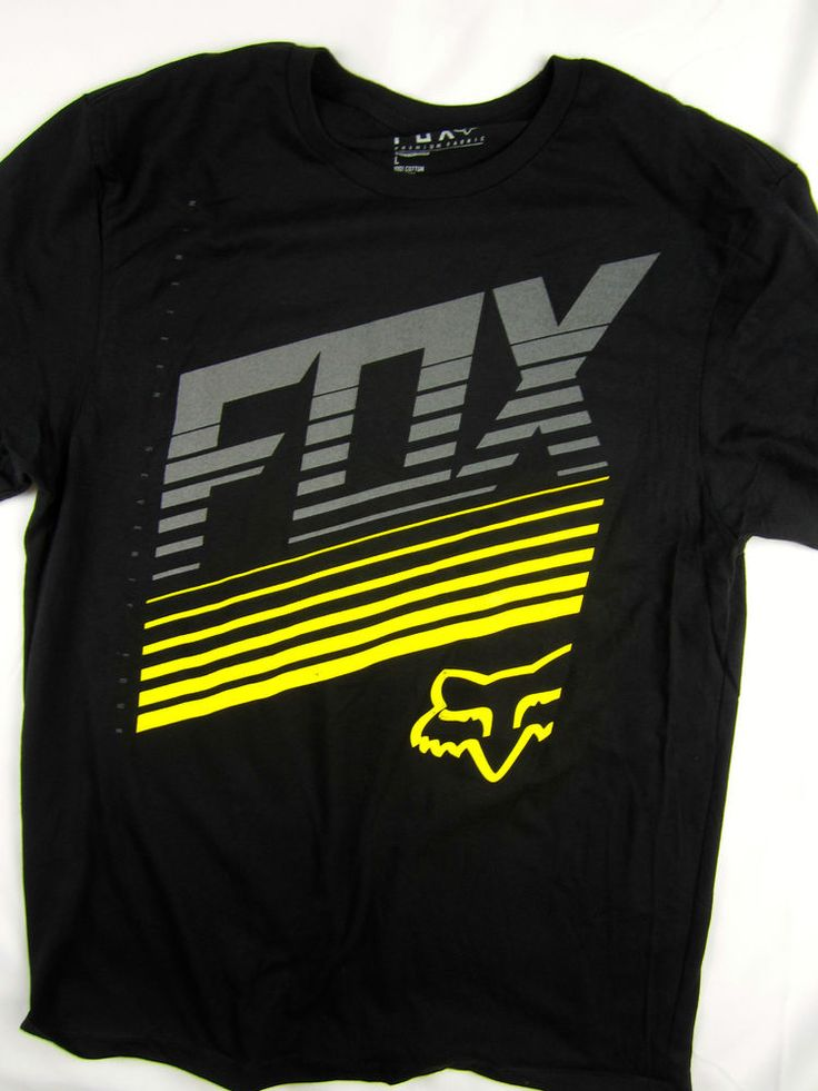 Fox Racing Moto-X FMX short sleeve tee shirt men's black slim fit size LARGE #FoxRacing #GraphicTee