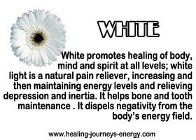 Healing White. Stand in the sun a few minutes or more, close your eyes