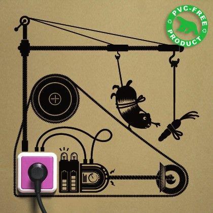 Hamster Treadmill - neat Sustainable Habit Reminder decals                                                                 Sustainable Habit Reminder