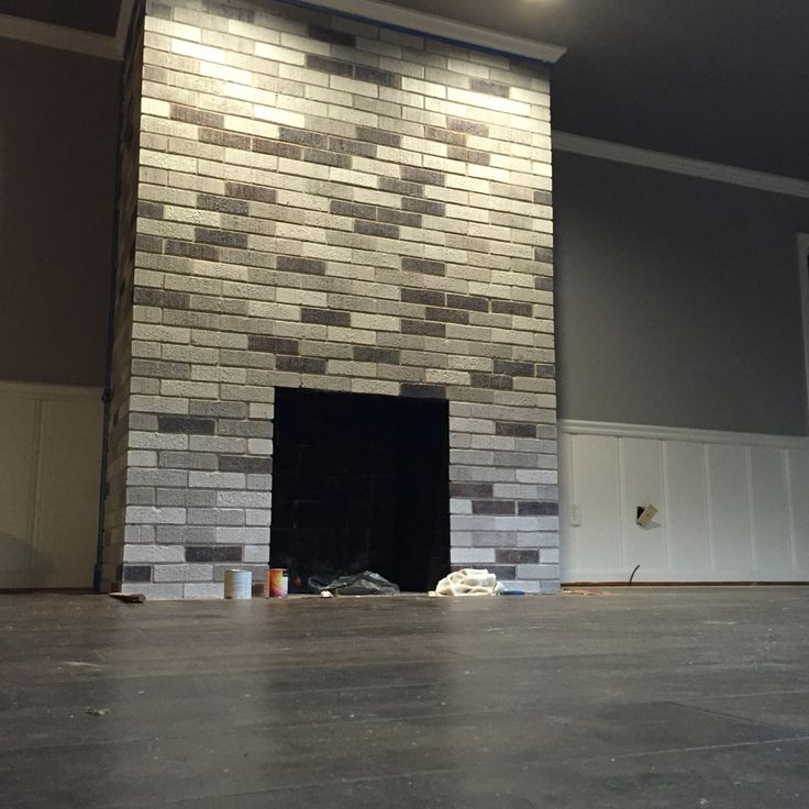My After Fireplace Project Painted Each Brick With