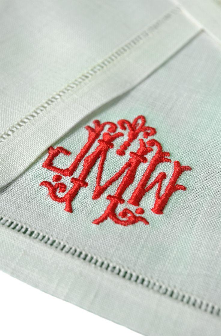 Leontine Linens Monogrammed Napkin