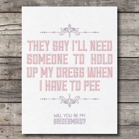 """How To Ask Your Bridesmaids, Will You Be My Bridesmaid, Cute Ways to Ask Bridesmaids 