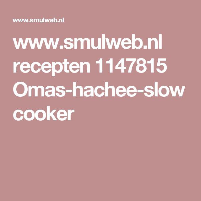 www.smulweb.nl recepten 1147815 Omas-hachee-slowcooker