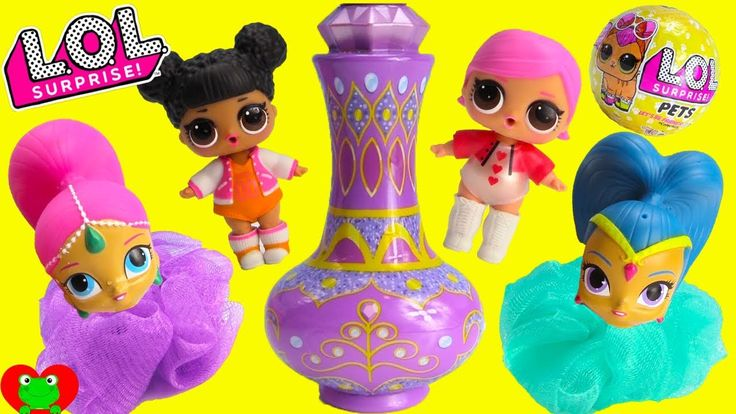 Shimmer and Shine Magical Soap Surprises Wash LOL Surprise Dolls Toy Video