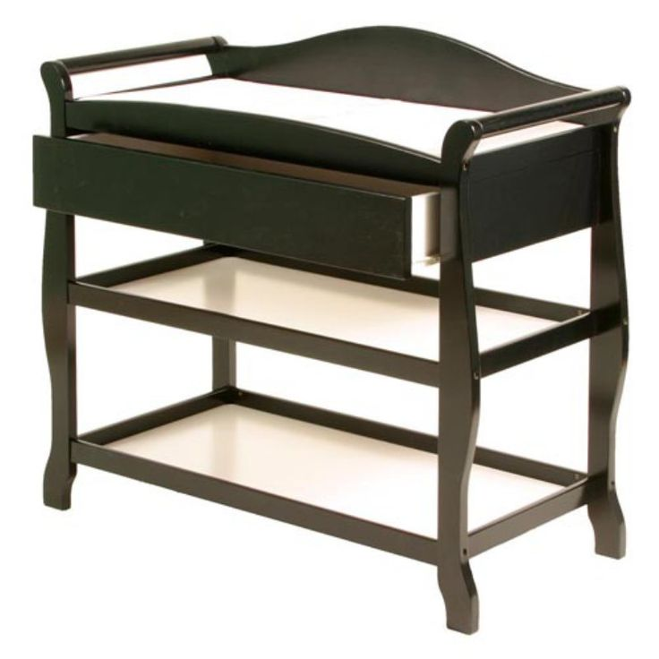 Storkcraft Aspen Changing Table with Drawer Black - 00524-58B
