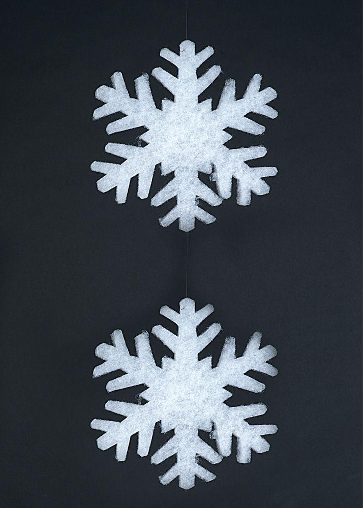 Christmas Snowflakes. Διακοσμητική νιφάδα χιονιού, 17 cm (Ύψος) (Σετ 2 τχ.)