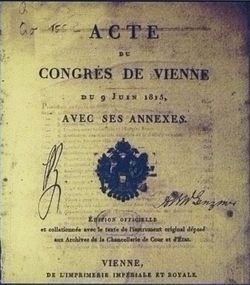 Frontispiece of the Acts of the Congress of Vienna (November 1814 to June 1815).