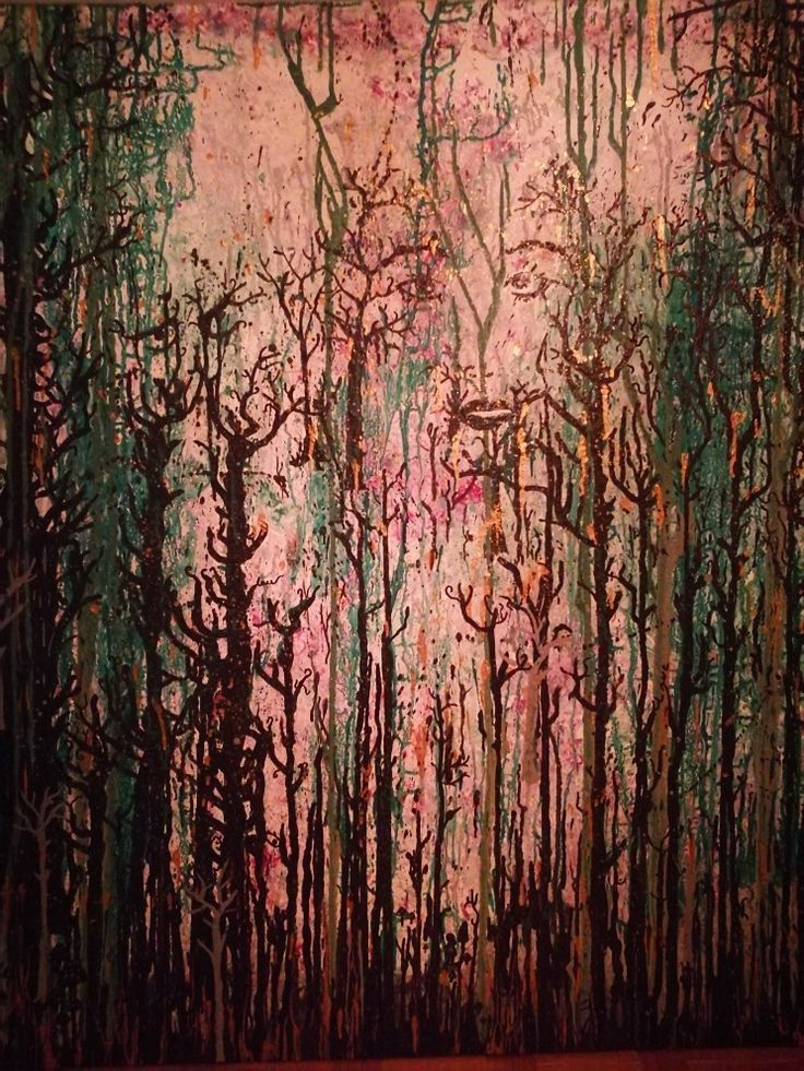 Abstract painting big Forrest