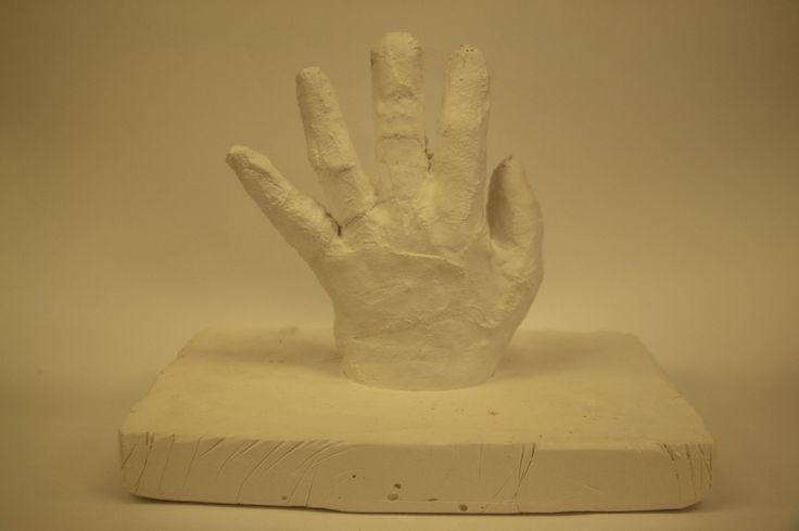 3D hand on white