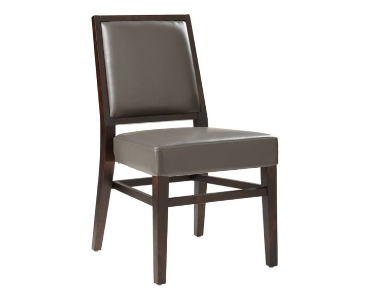 Sunpan Citizen Bonded Leather Dining Side Chair   Brown   Set Of 2 Gray