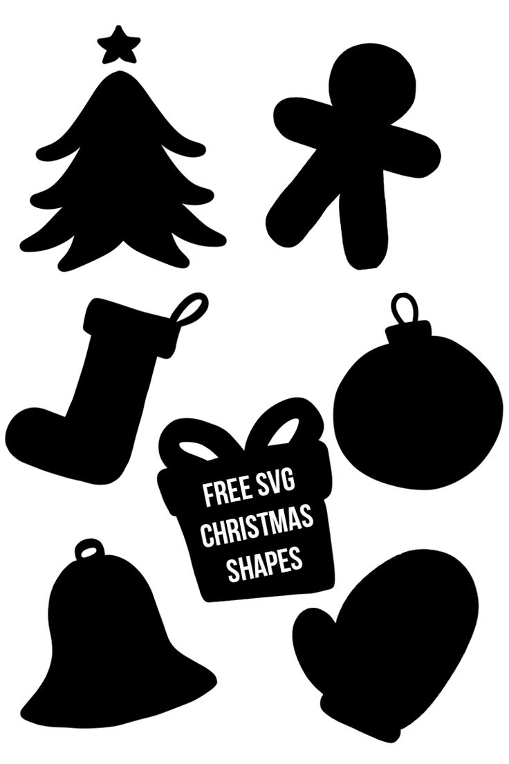 The Creativeqube Pack /// Free Christmas SVG Shapes