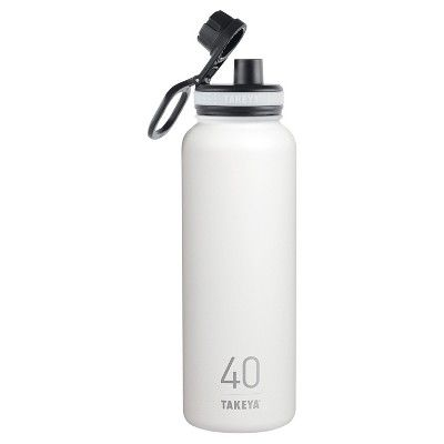 Takeya Thermoflask 40oz Insulated Stainless Steel Water Bottle - White