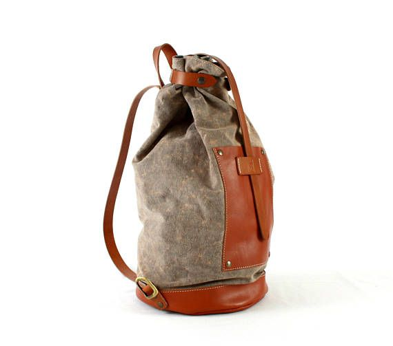 MADE in ITALY BACKPACK/Leather backpack/Woman backpack/Man
