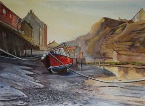 'Staithes at Low Tide' by Graham Ibson