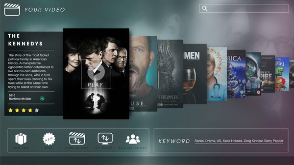 Smart TV UI by matt chapman, via Behance