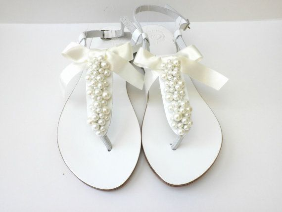 Wedding white Greek leather sandals White sandals by dadahandmade