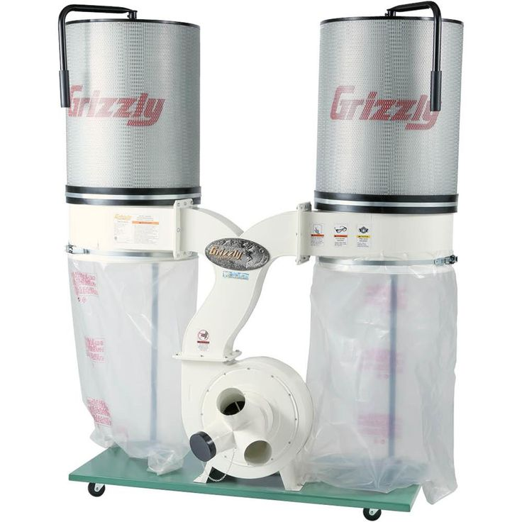 3HP Double Canister Dust Collector with Aluminum Impeller - Polar Bear Series | Grizzly Industrial