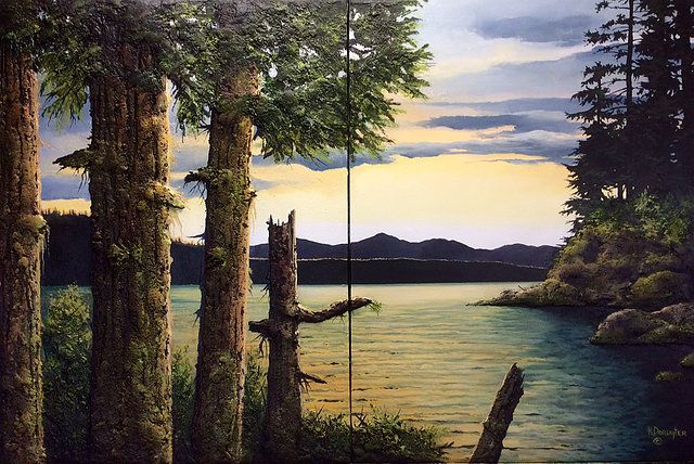 A collection of paintings by Canadian artist Karel Doruyter.