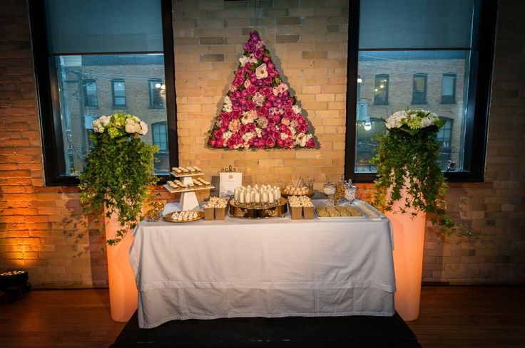Floral Backdrop over dessert table