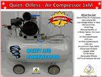Quiet Oilless (Oil less) Air Compressor 1XM
