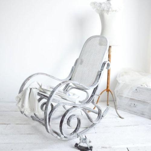BUJANY FOTEL SHABBY CHIC AGNIESZKA KRAWCZYK . MEBLE Piękny bujany fotel z duszą, to przybysz z Francji. Został poddany redesignowi i dzięki temu zyskał drugie życie!  Furniture, home decor, handmade, redesign.