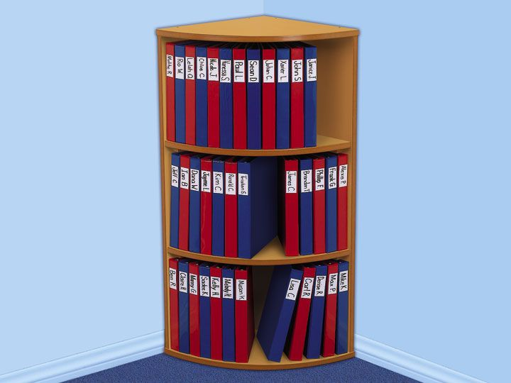3-Shelf Binder Storage Center. I keep all my blackline masters in binders. This would be a sensible way to organize.