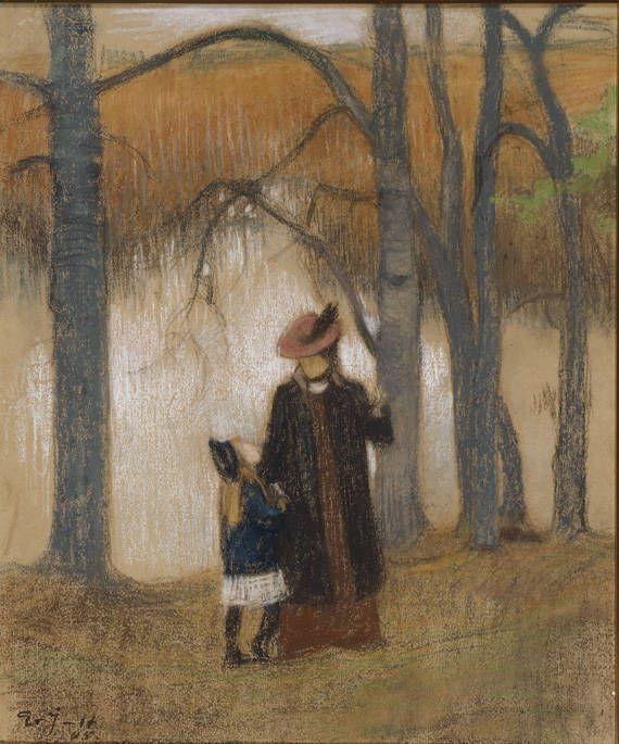 Eero Järnefelt, Vaimo ja tytär (moglie e figlia)