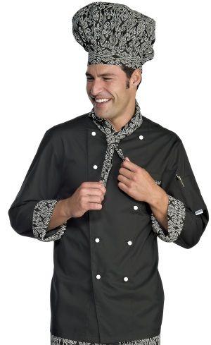 € 39,00 - Chaqueta Chef Negra Maori 59291 ISACCO