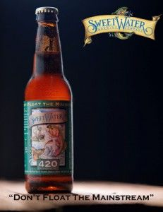 SweetWater 420 Extra Pale Ale, our most popular brew, is a tasty West SweetWater 420.   A Westcoast style pale ale with a stimulating hop character and a crisp finish. First brewed on April 20, 1997.