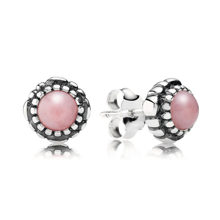 October Birthstone Stud Earrings - Pandora UK | PANDORA eSTORE
