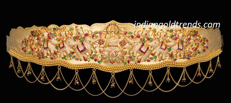 Latest Indian Gold and Diamond Jewellery Designs: Lakshmi devi Vaddanam