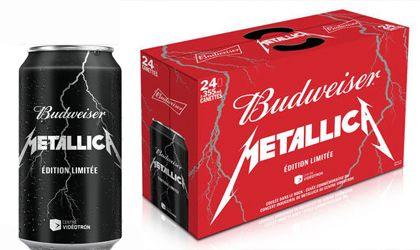 La marca Budweiser lanzará al mercado canadiense latas de cerveza con en logo de Metallica.